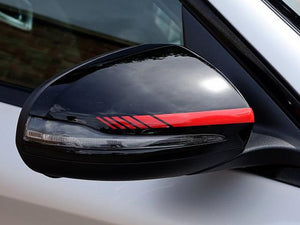 AMG Mirror Cover Sticker Trims in Red