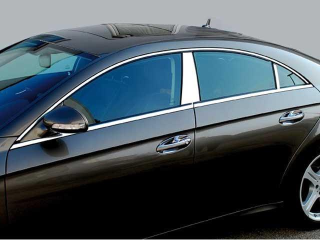 W219 CLS Chrome Stainless steel B Pillar cover trims