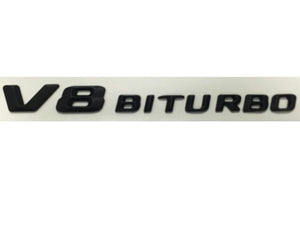 V8 Biturbo badge in Matt Black