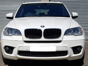 BMW E71 X6 Kidney Grilles Chrome and Black Twin Bar M Style 2007 ONWARD