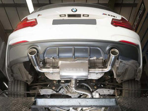 BMW M235i Sport Cat Back Exhaust Non-Resonated
