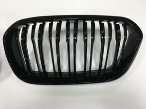 BMW 1 Series Twin Bar Black grilles