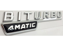 Load image into Gallery viewer, Mercedes BiTurbo 4MATIC emblem badge OEM NEW AMG 2016+ MODELS