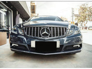 W207 E Class AMG Panamericana Grille Black with Chrome Frame and Bars - Models to 04/2013