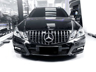 W212 E Class AMG Panamericana Grille Models until March 2013 - Black and Chrome