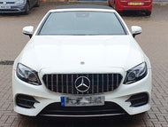 AMG Panamericana Grille Black and Chrome W213 C238 E Class Models with OR without 360 degree camera NOT FOR AMG E63