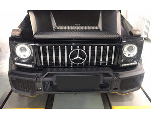 W463 G Wagen AMG GT Style bonnet grille Black and Chrome