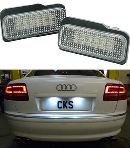 Licence plate lamps - complete with holders