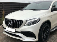 GLE63 Panamericana Grille Chrome and Gloss Black GLE63 SUV ONLY models From 2015 Onwards