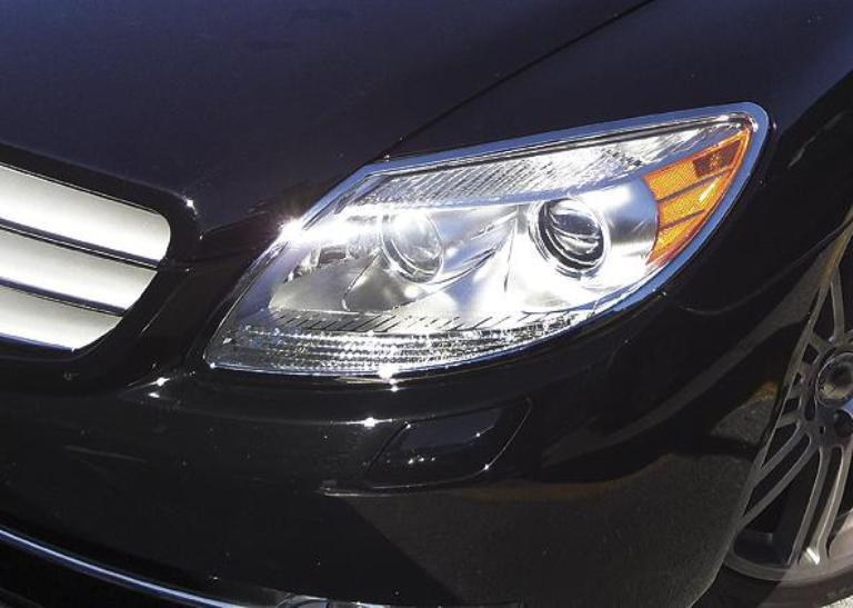 W216 CL Chrome headlamp surrounds set models to 2011