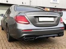 Load image into Gallery viewer, AMG W213 E63 Diffuser & Tailpipe package Night Package with Chrome tailpipes