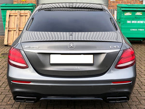 AMG W213 E63 Diffuser & Tailpipe package Night Package with Chrome tailpipes