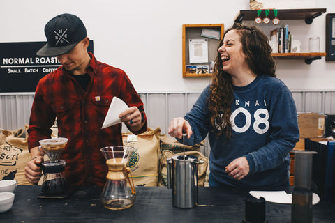 coffee brewing equipment french press v60 chemex laughing