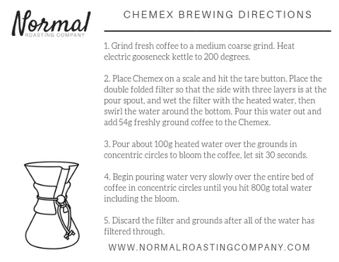 chemex pour over brewing directions