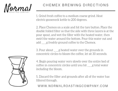 chemex brewing directions with blanks