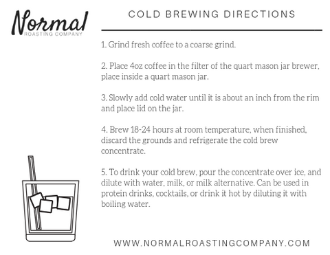 cold brew brewing directions