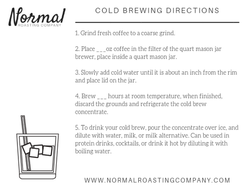 cold brew brewing directions with blanks
