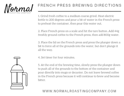 french press brewing directions