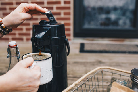 airpot coffee brewed to go