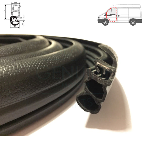 FRONT RH / LH DOOR WEATHERSTRIP RUBBER SEAL FITS FORD TRANSIT MK7 2006-2014
