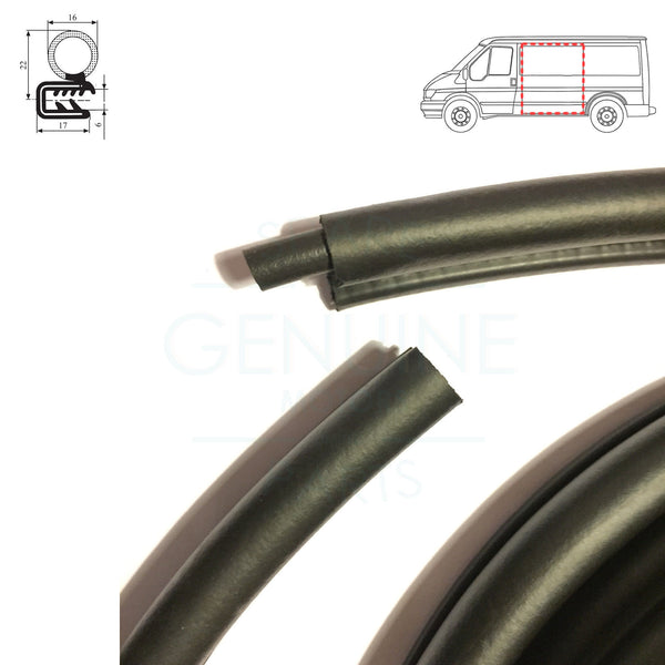 RH / LH SLIDING DOOR WEATHERSTRIP RUBBER SEAL FITS FORD TRANSIT MK6 2000-2006
