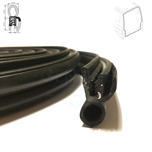 REAR TAILGATE RUBBER SEAL FITS VW TRANSPORTER / CARAVELLE T4 1990-03, 721827705B
