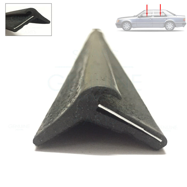 1 x MERCEDES W123 W126 DOOR WINDOW GLASS OUTER RUBBER SEAL, 1267250365