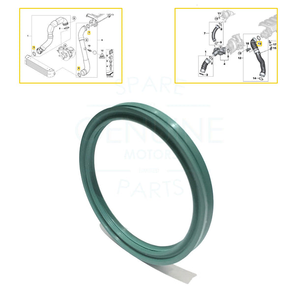 1 x CHARGER INTAKE MANIFOLD HOSE PIPE SEAL GASKET FITS BMW, 11617790547