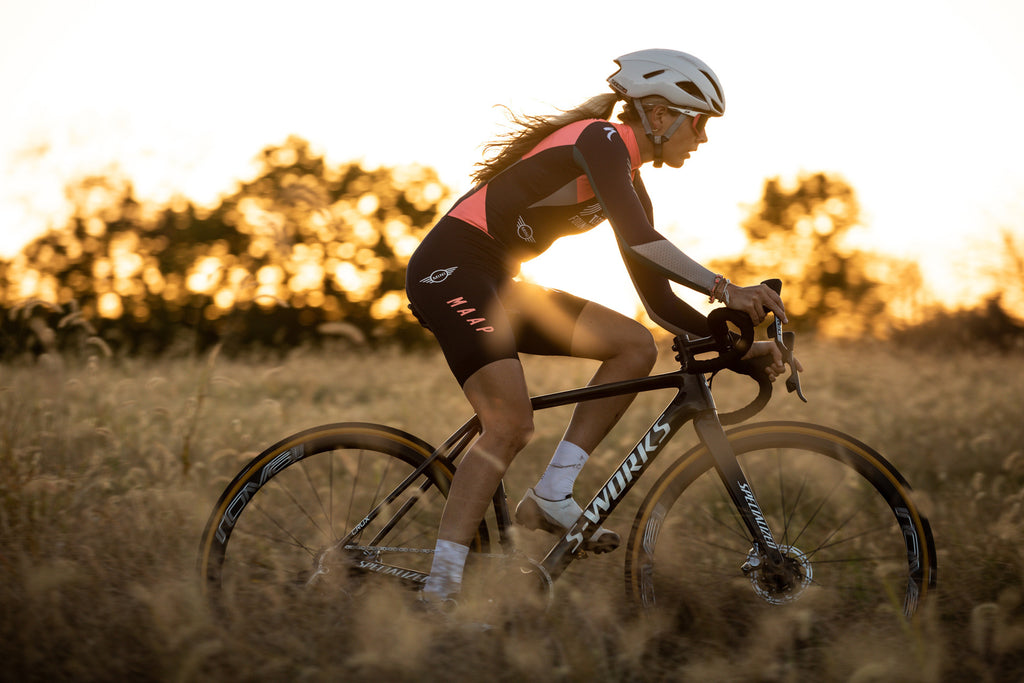 Raylyn Nuss riding her Specialized