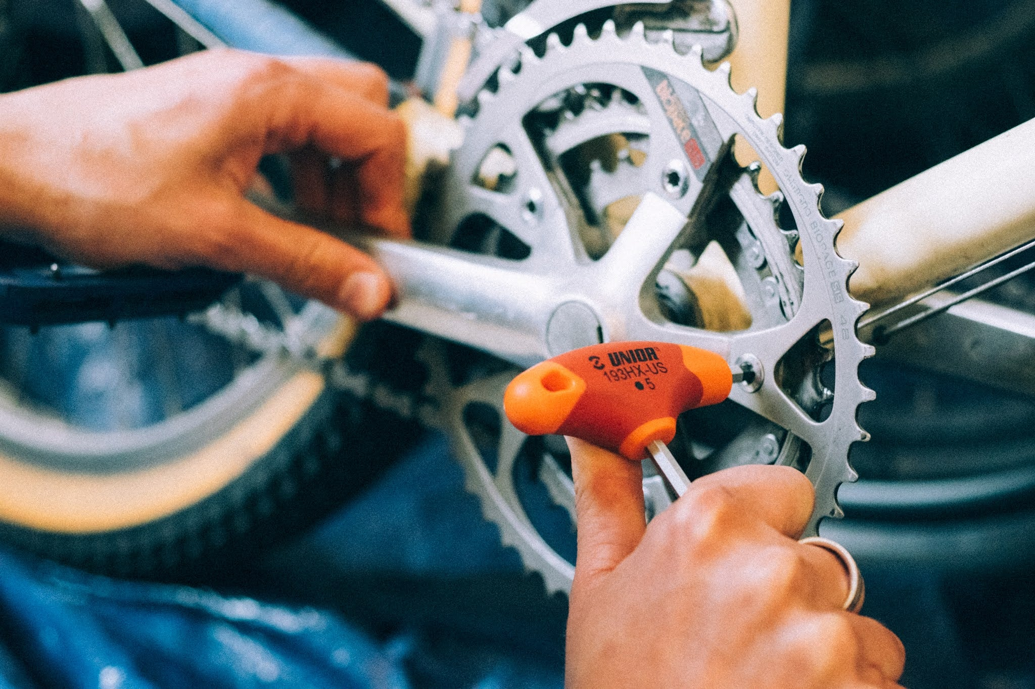 Keep your chainring bolts tight.