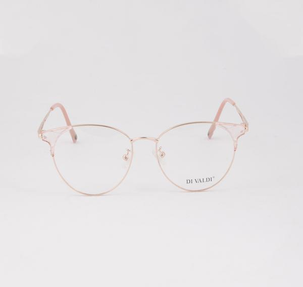FRAME FOR OPTICAL EYEGLASSES, ELEGANT, ROSE GOLD