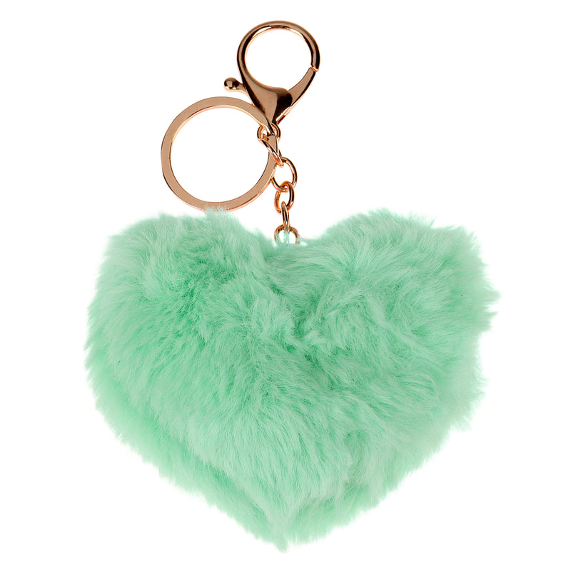 Fluffy Heart Key Chain