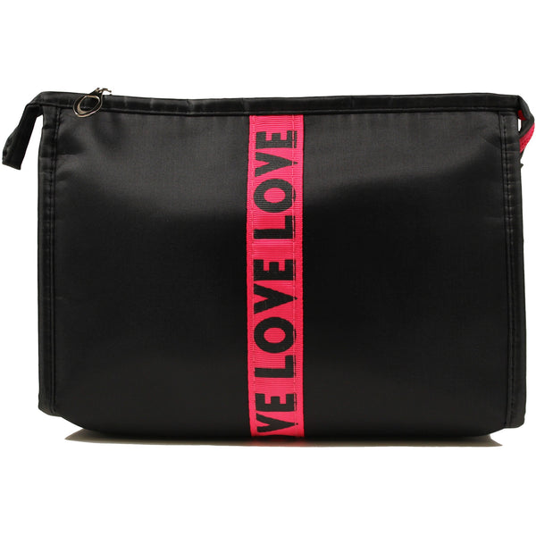 Ashley Lee LOVE - Striped Cosmetic Bag