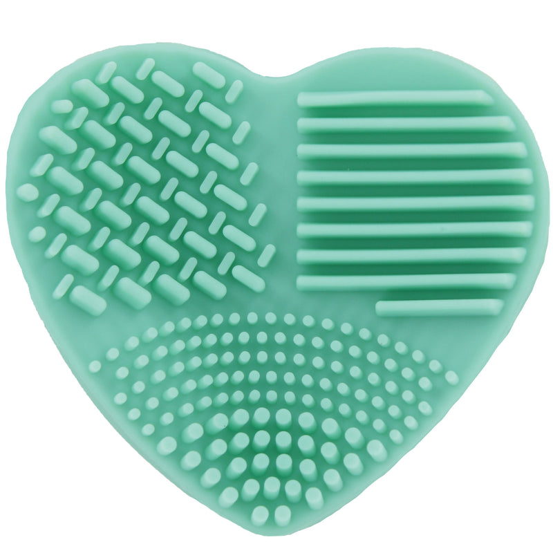 Ashley Lee Silicone Heart Brush Cleaning Tool Green