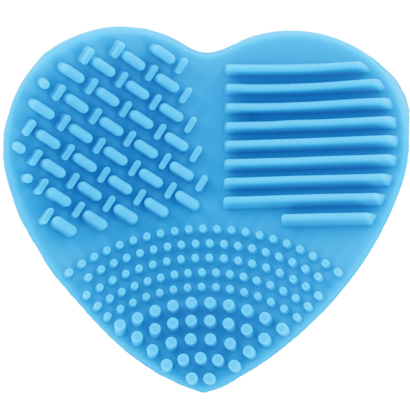 Ashley Lee Silicone Heart Brush Cleaning Tool Blue