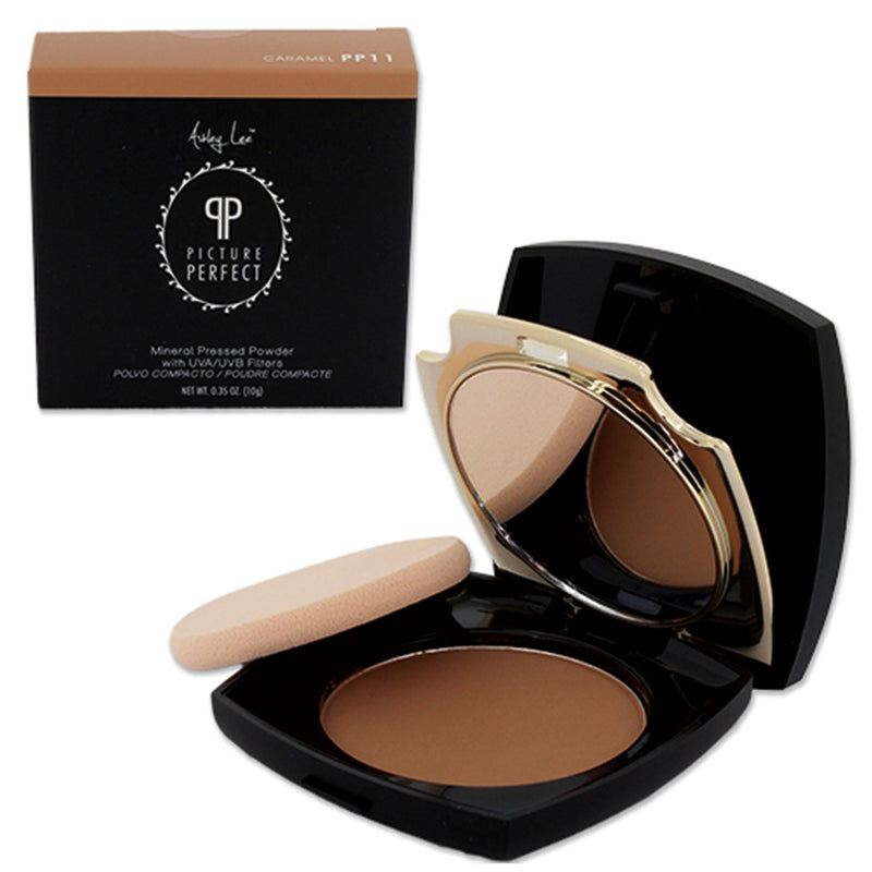 Caramel Mineral Pressed Powder Foundation Ashley Lee Cosmetics