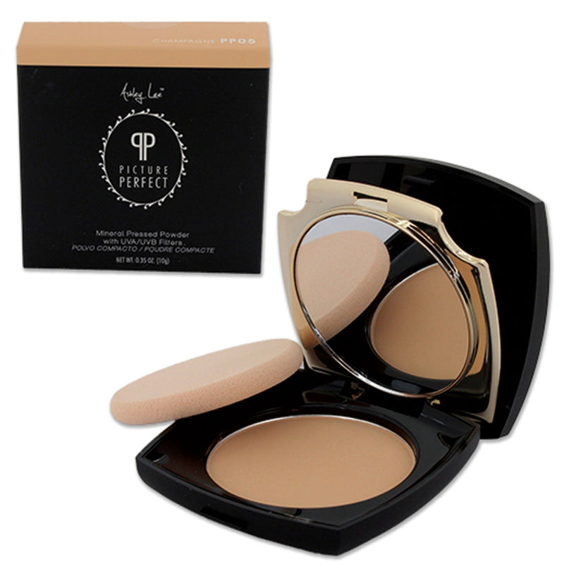 Champagne Mineral Pressed Powder Foundation Ashley Lee Cosmetics