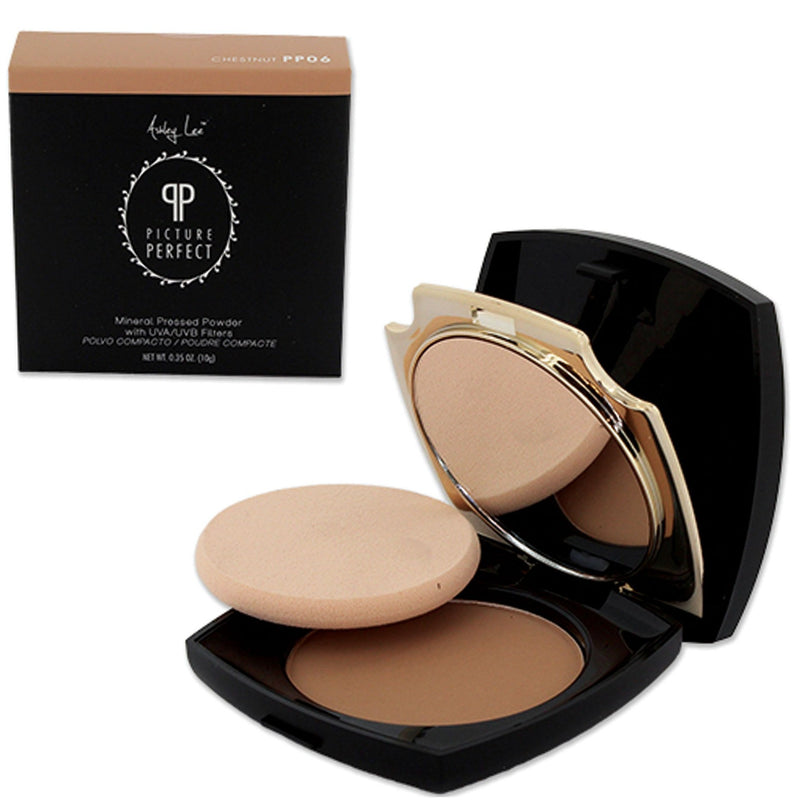 Chestnut Mineral Pressed Powder Foundation Ashley Lee Cosmetics