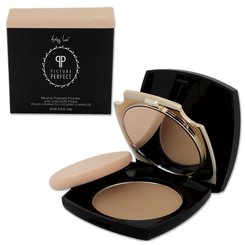 Creamy Natural Mineral Pressed Powder Foundation Ashley Lee Cosmetics