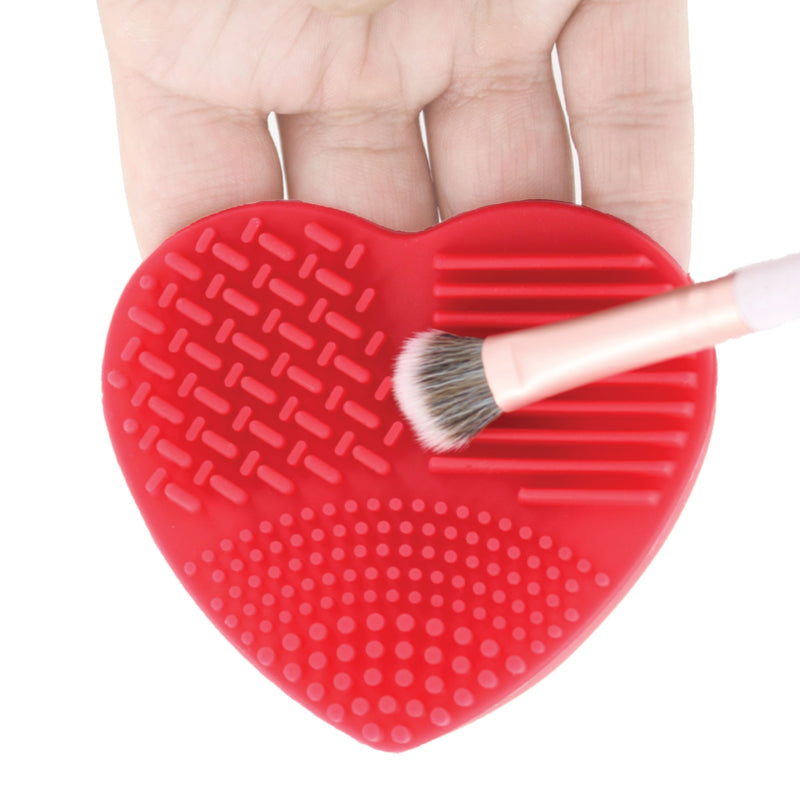 Ashley Lee Silicone Heart Brush Cleaning Tool Red 2