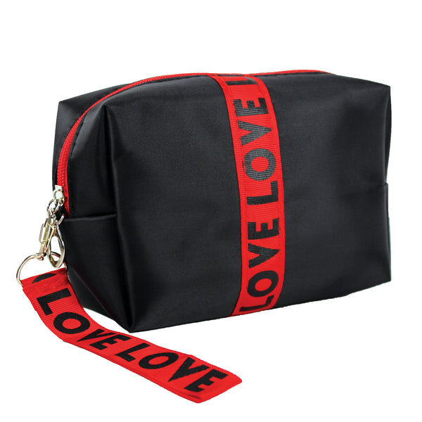 LOVE Cosmetic Bag Travel Strap Handle Cute