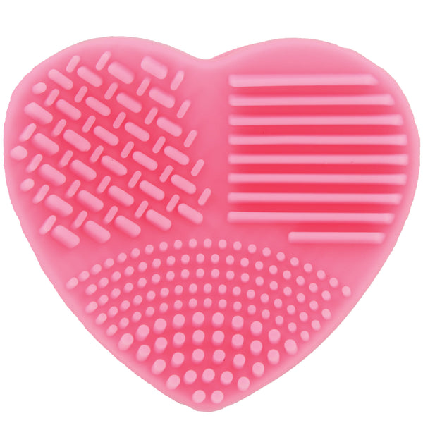 Ashley Lee Silicone Heart Brush Cleaning Tool Pink