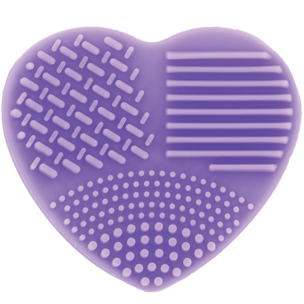 Ashley Lee Silicone Heart Brush Cleaning Tool Purple