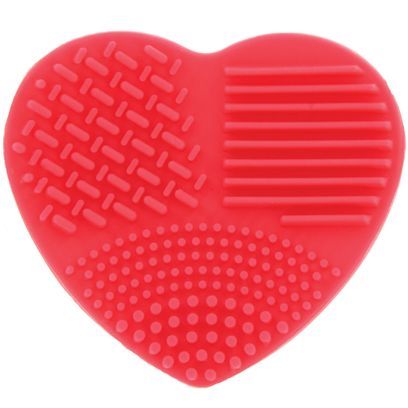 Ashley Lee Silicone Heart Brush Cleaning Tool Red