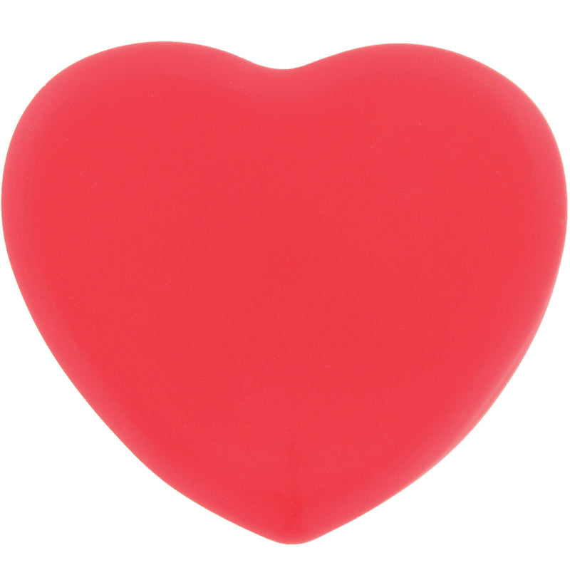 Ashley Lee Silicone Heart Brush Cleaning Tool Red Back