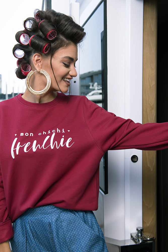 MON CHICHI FRENCHIE sweat bordeaux