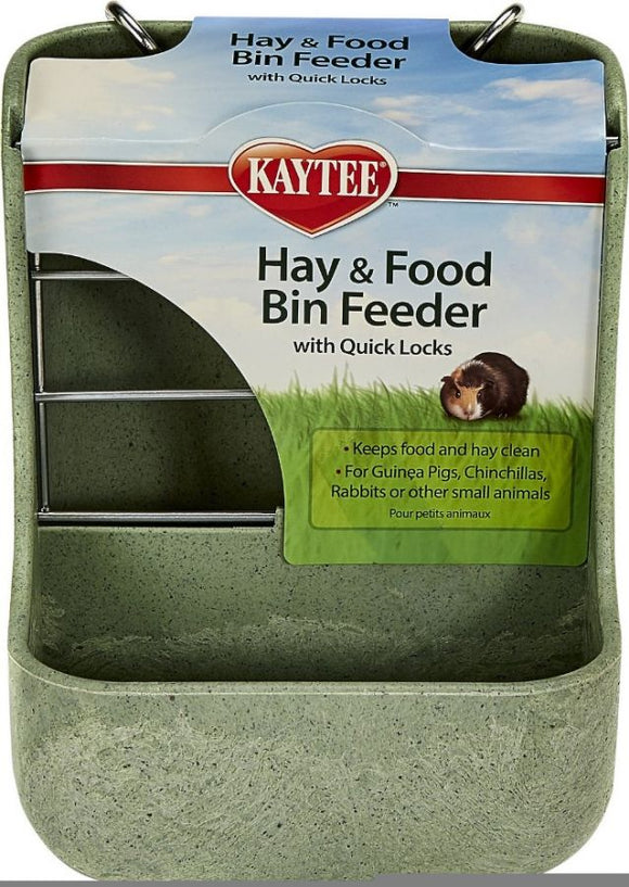 Kaytee Hay & Food Bin with Quick Locks Small Animal Feeder