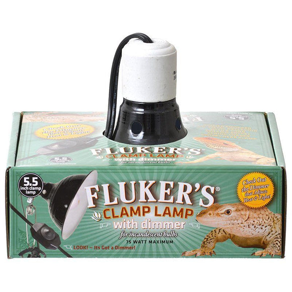 Flukers Clamp Lamp with Dimmer