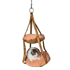 Pet Life ® 'Kittyhaus' Dual-Lounge Hanging Relaxing Kitty Cat Pillow Bed Hammock Lounger