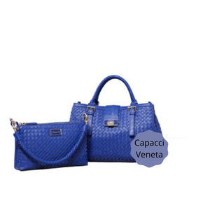 Capacci Veneta Bag Set (Blue, Green)